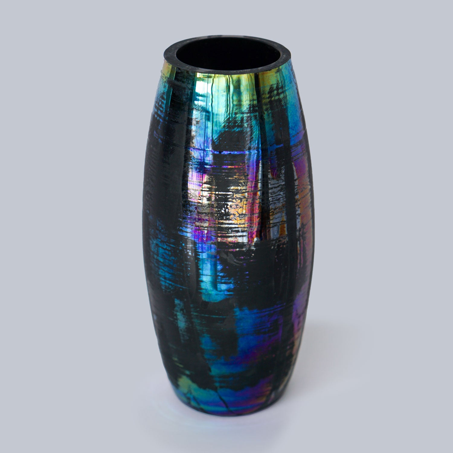 "Rainbow Glass 8""H Vase"
