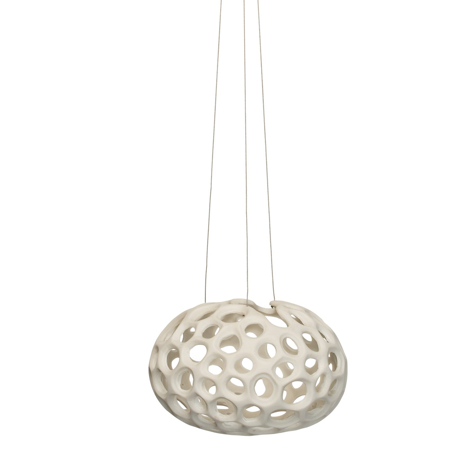 BioMorph- Sponge Sculpture Hanging Planter, White