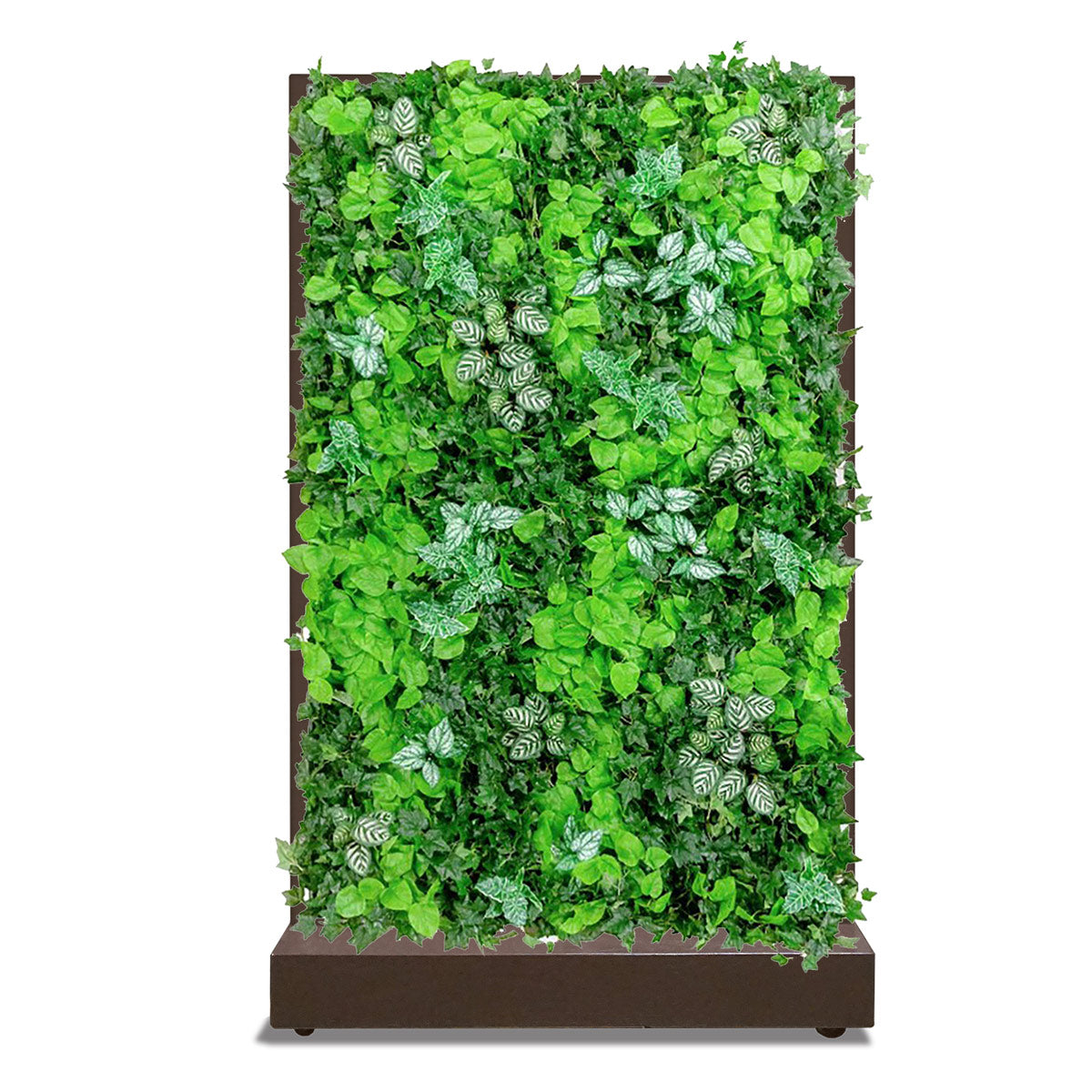 Movable Partition with Lush Green Wall, Bronze Black