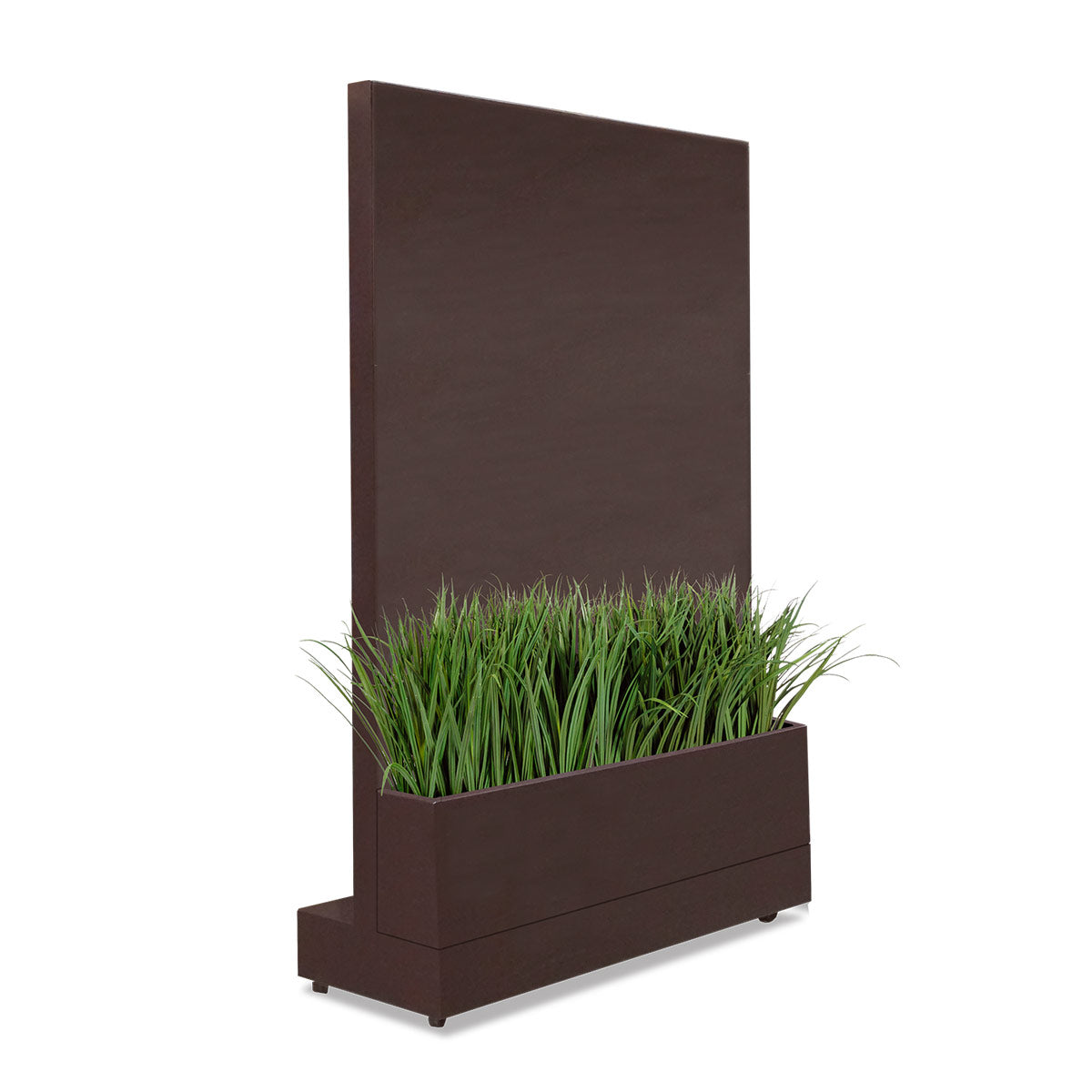 Movable Partition Wall with Liriope Planter, Bronze Black