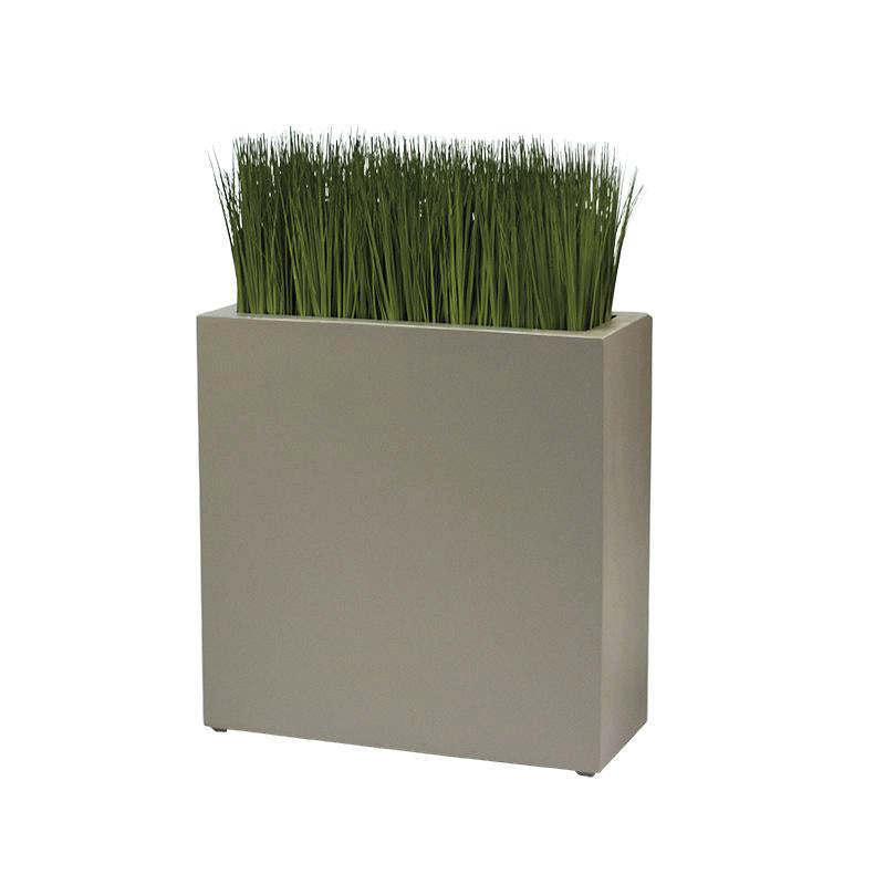 "Rectangle 30""H Planter, FIBERGLASS, Dove Grey"