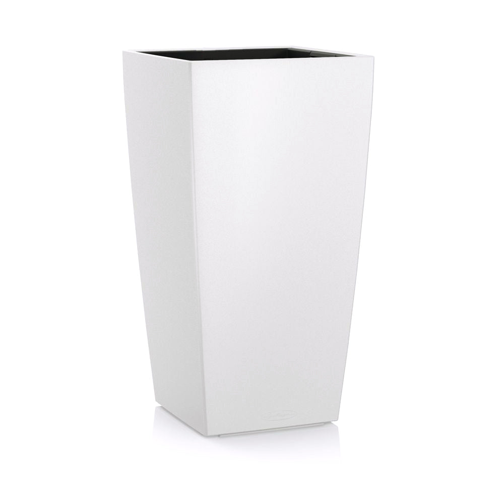 "Plastic: Planter Square Tall White Gloss, 37""H"