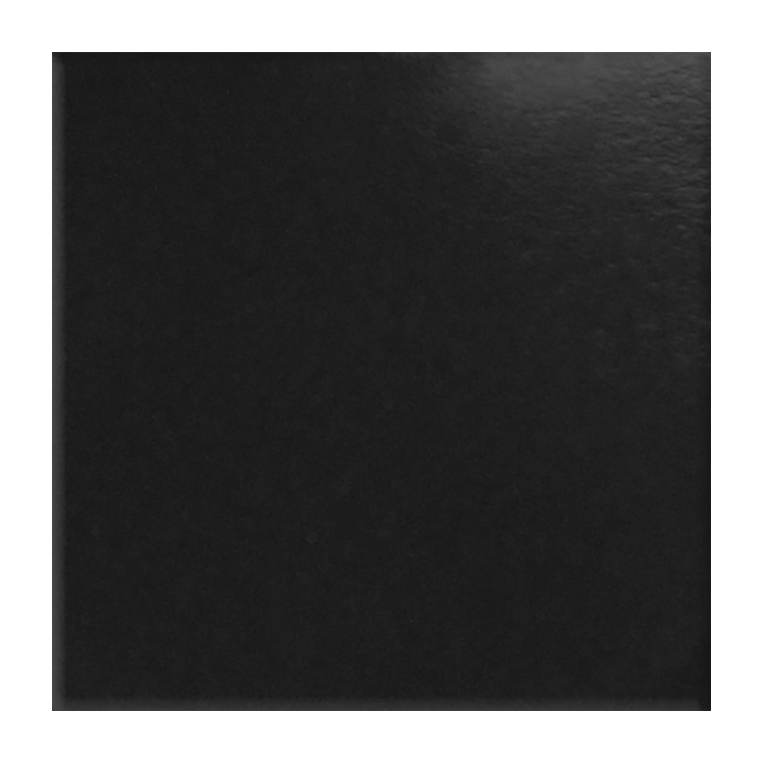 "Plastic: Planter Square Short Black Gloss, 16""H"