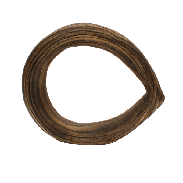 "Burned Wood Ring 15.5""L Sculpture"