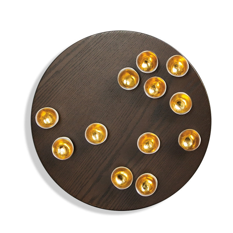 "Wall Play™ Round Substrate 'Gold Seed', 20""D"