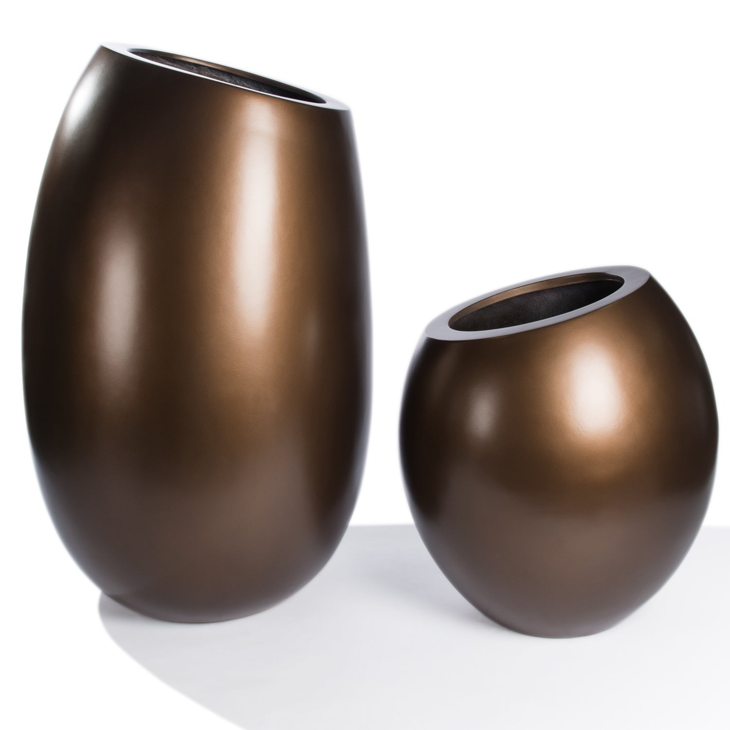 "Fiberglass: Sherry Planter, Bronze, 48""H"
