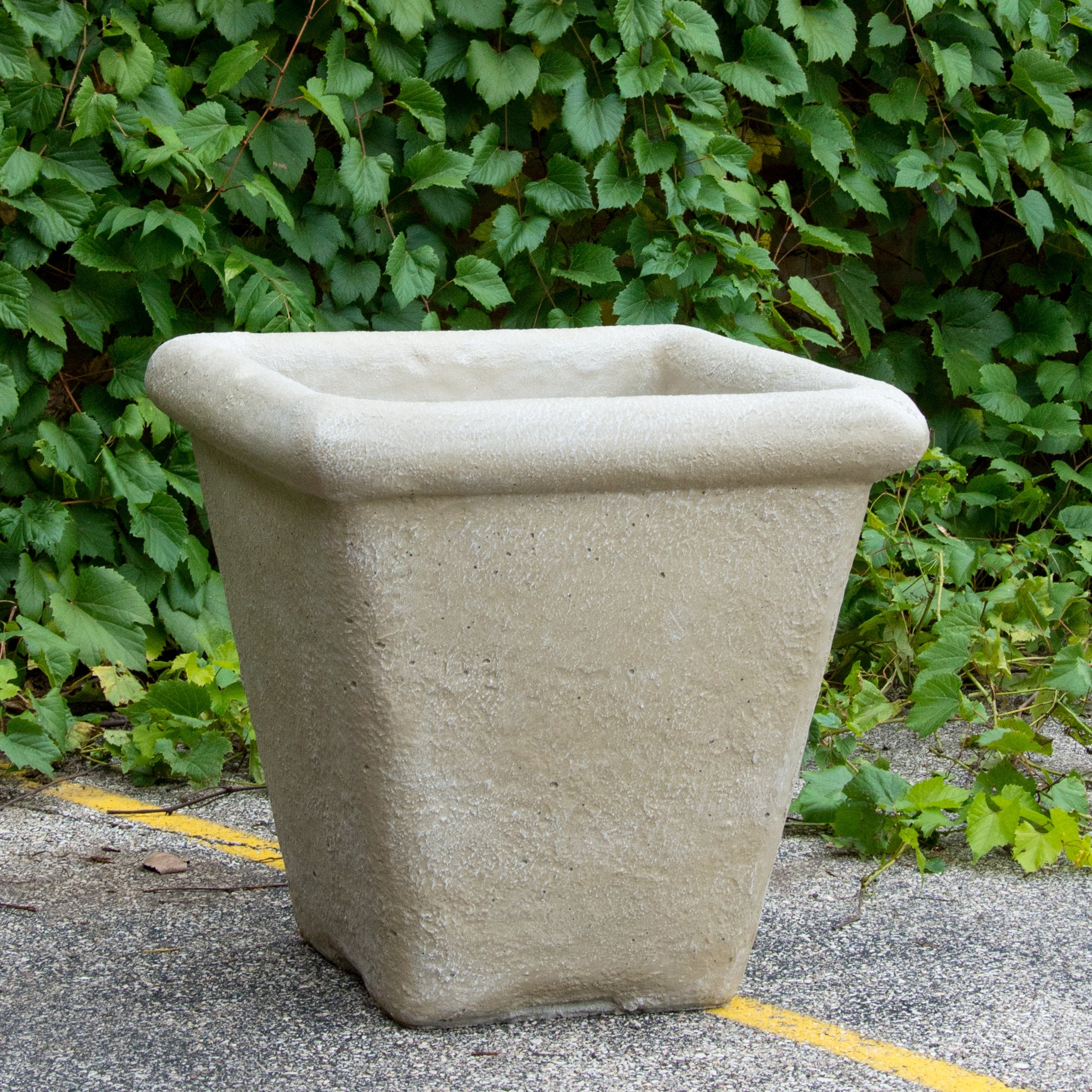 "Distressed Texture: Limestone Tapered 25""H Planter"