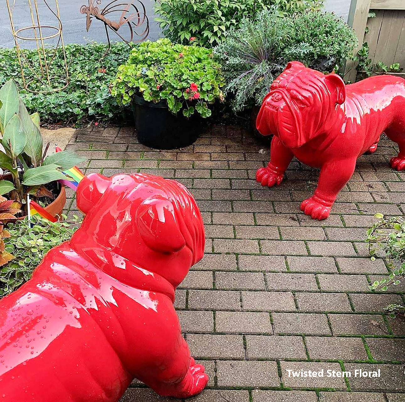 Bulldog Sculpture, Red