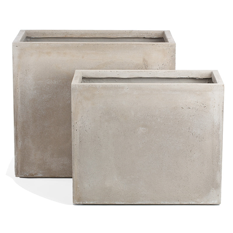 Distressed Smooth: Urbano Rectangle Planters, Set/ 2