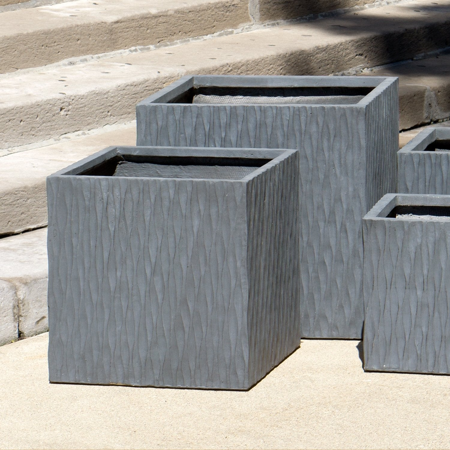 "Distressed Textured: Drift Square 19.75""SQ Planter"