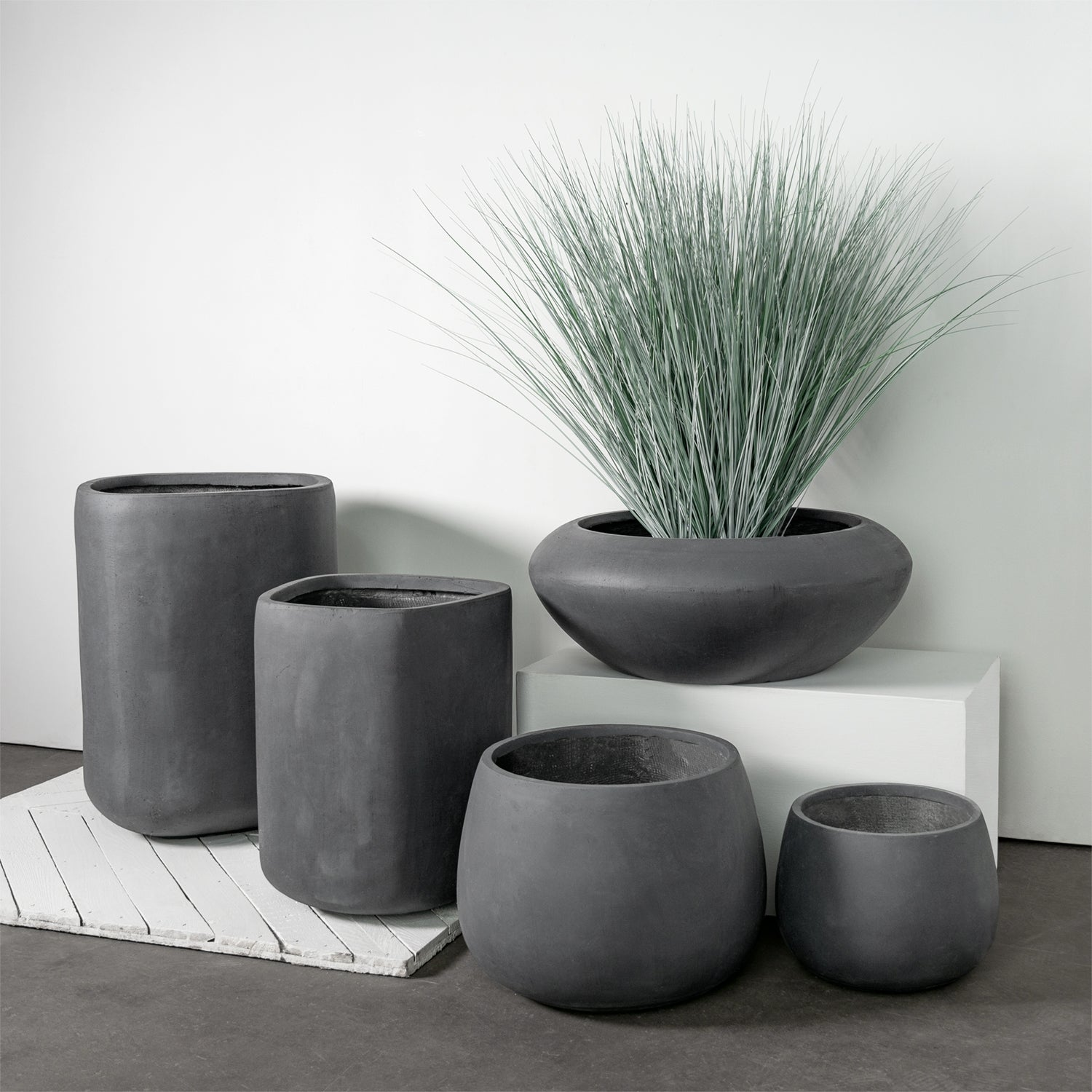 Distressed Smooth: Puddle Planters, Set/ 2