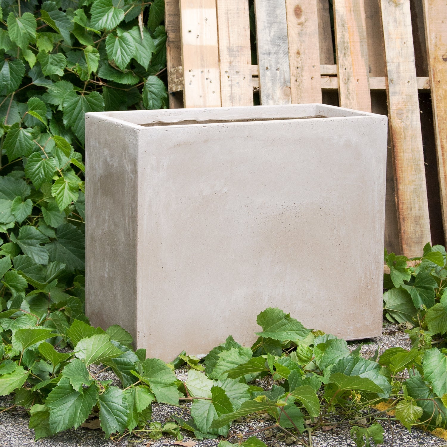 "Distressed Smooth: Urbano Rectangle Planter, 23.75""L"