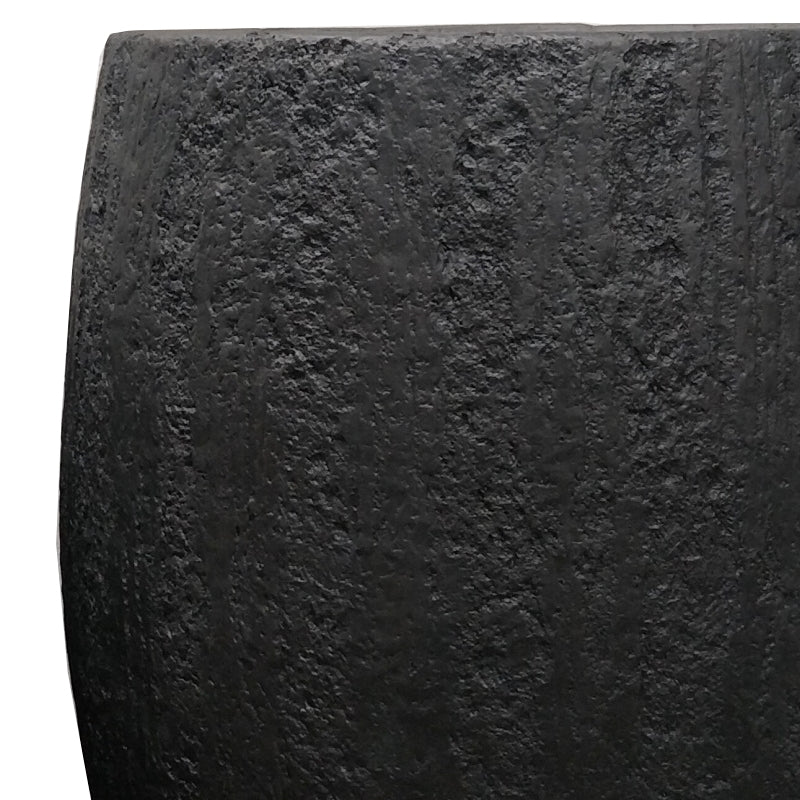 "Distressed Texture: Yama Black Planter, 59.75""H"
