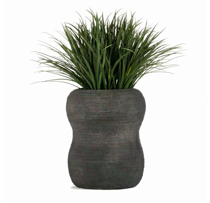 "Distressed Textured: Naoshima Planter, 24""H"