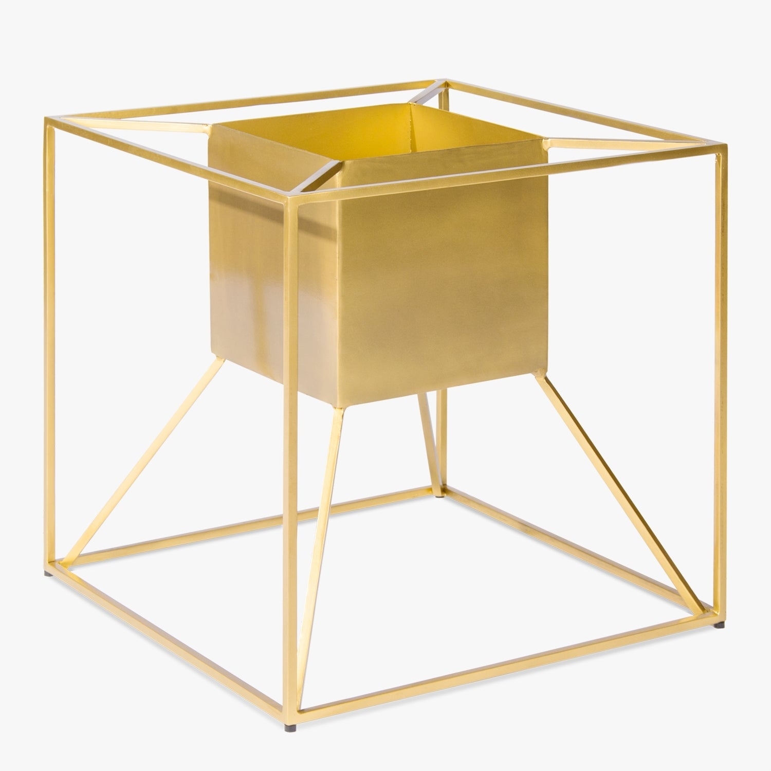 Floating Planter, Square Gold