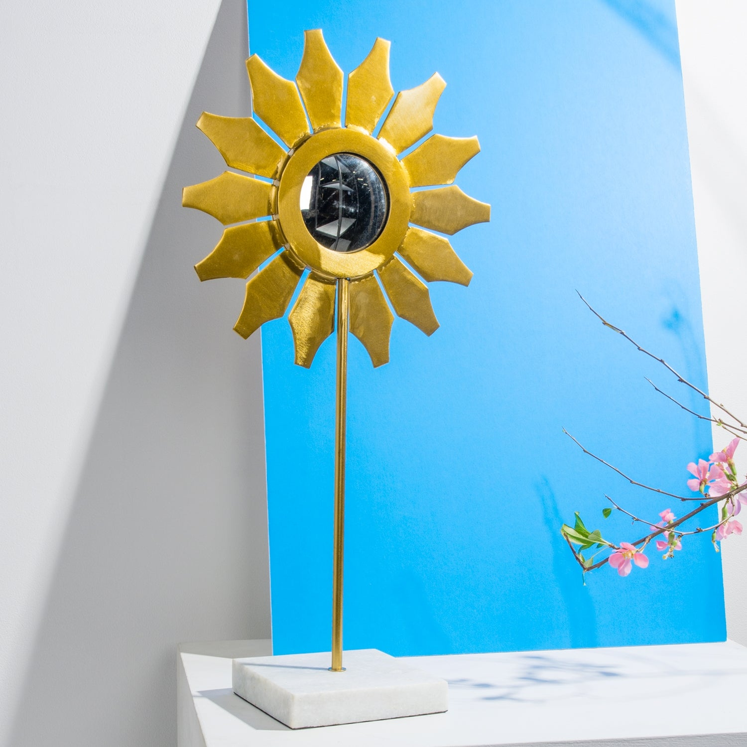 "Mirror, Flower Sunflower 24""H Sculpture"