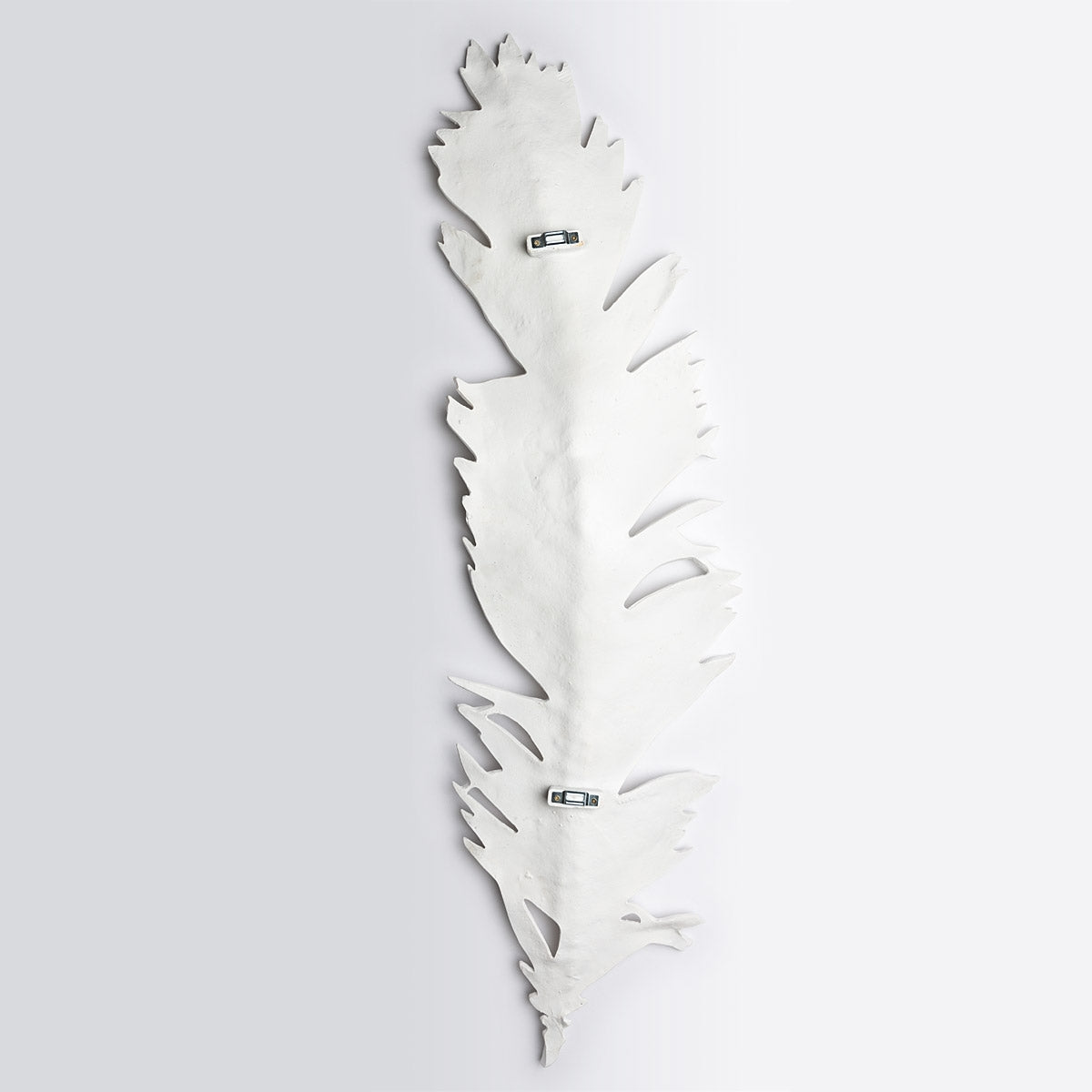 "Leaf, Cycas 47.6""H Wall Art, White"