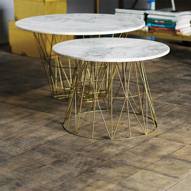 "Troy 24""D Table w/ Marble Top"