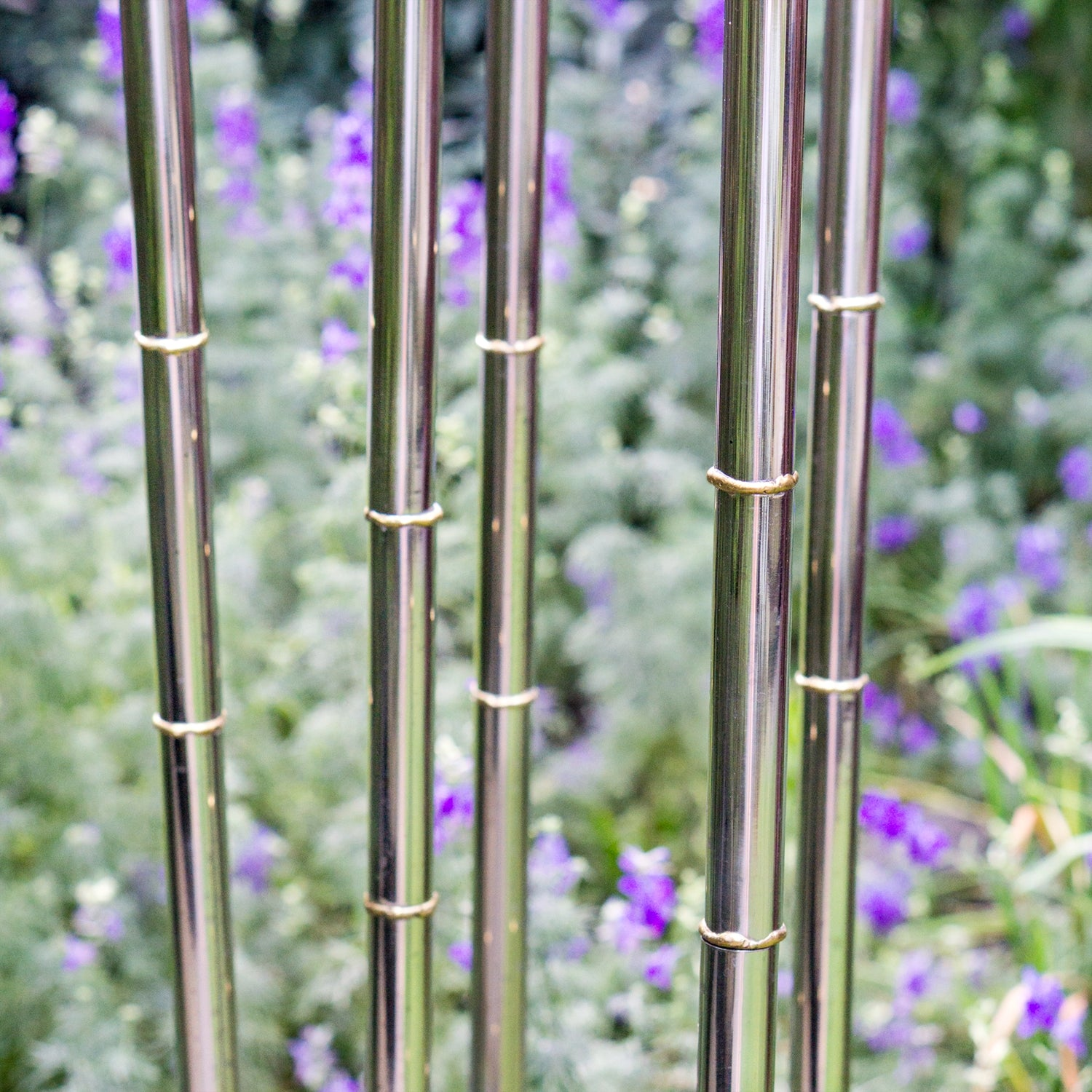 "Bamboo Stainless Pole, 77""H"