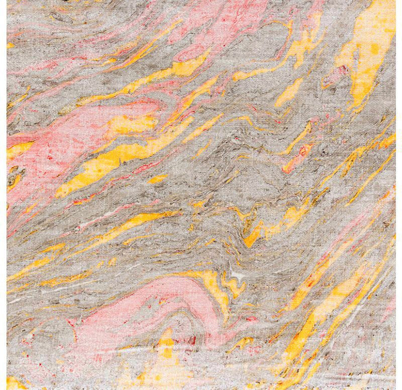 Marbled Cloth, yellow/ red/ black