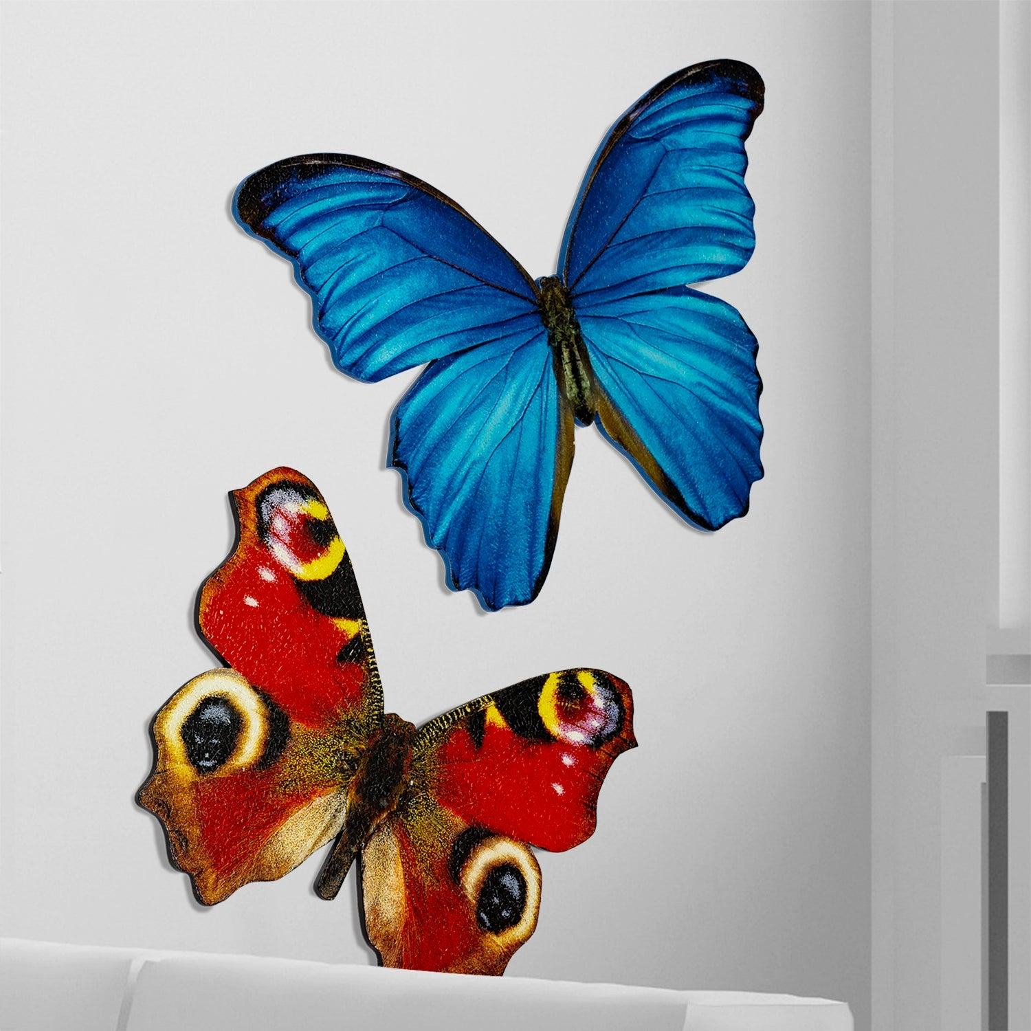 "Mosaic Butterfly Blue Morpho 30""W Wall Art"