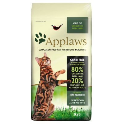 Applaws Cat Food - Adult Cat Chicken with extra Lamb 2kg