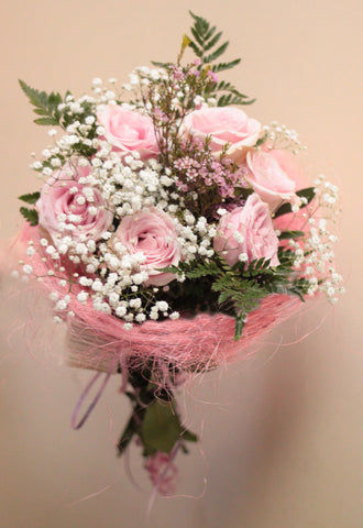 Pink Blush (6 pink roses, GOZO DELIVERY ONLY)