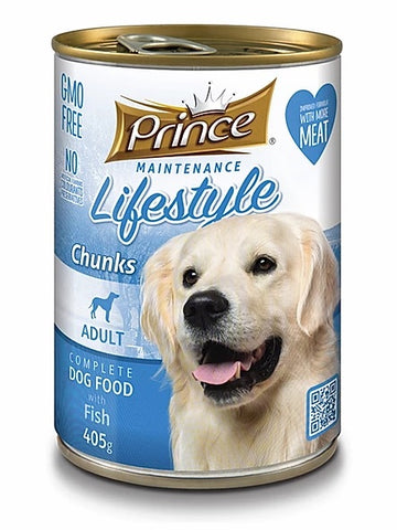 7 cans Prince Adult Dog, Fish 415g