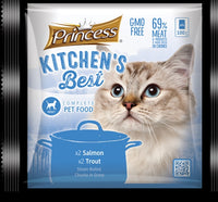 Princess Kitchen's Best Adult Cat x2 Salmon, x2 Trout - 4pkt x 100g