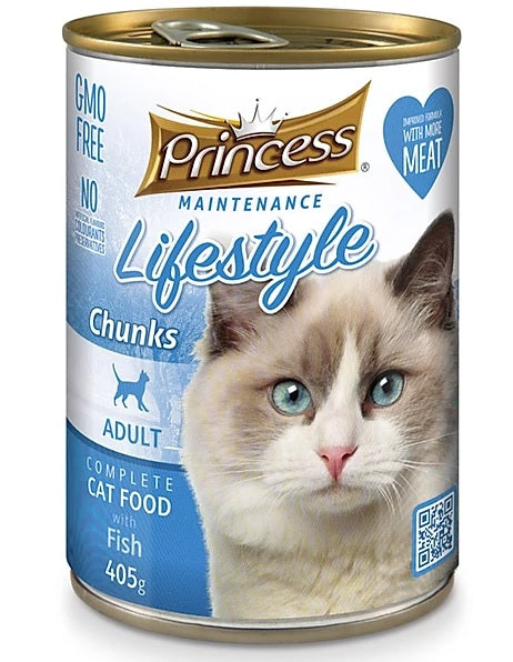 7 cans Princess Adult Cat, Fish Chunks 405g