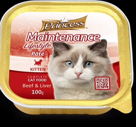 Princess Kitten Beef & Liver 100g