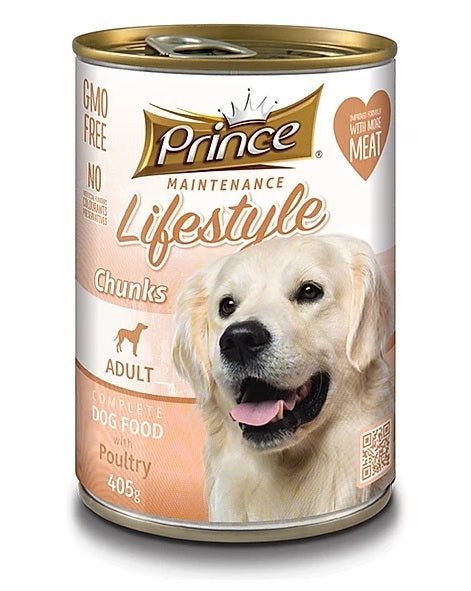 7 cans Prince Adult Dog, Poultry 415g