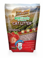 Princess Eco Friendly & Flushable Cat Litter, Strawberry 6lt