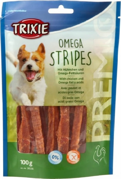 Omega Stripes - with chicken 100g
