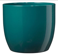 BASEL FASHION POT 21cm SHINY PETROL