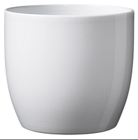 BASEL FASHION POT 19cm SHINY WHITE