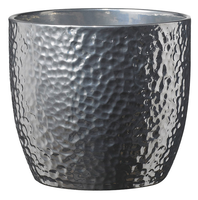 BOSTON METALLIC POT 16cm SHINY SILVER