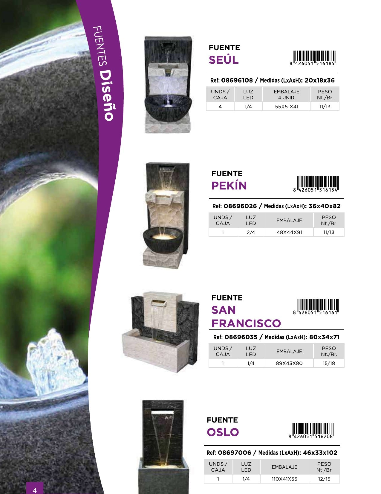 San Francisco Fountain (On Order 50% Payable on Order 50% on Delivery - Total Price Eur 428)