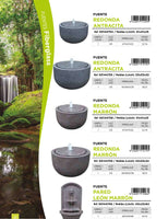 Redonda Antracita Large Fountain (On Order 50% Payable on Order 50% on Delivery - Total Price Eur 298)