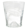 SALINAS GLASS POT 13cm MARBLE-TRANSPARENT