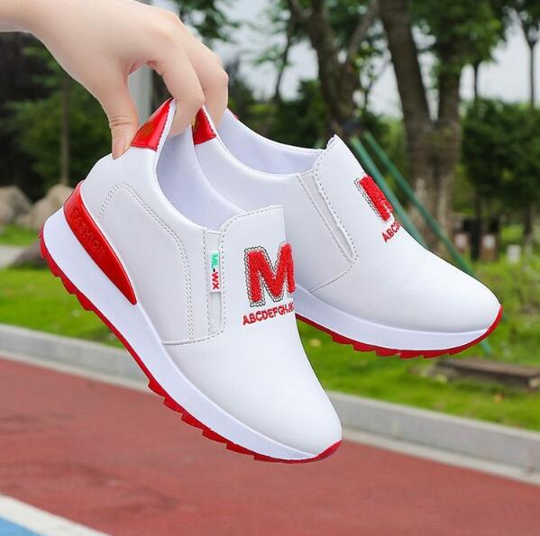 2020 Platform Wedges Women's Sneakers Spring High Quality Rhinestone Mesh Breathable Increased Women's Shoes Casual Shoes