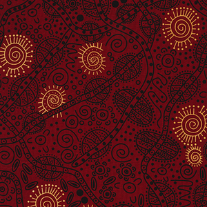 Bush Tucker Red - Designed by June Smith