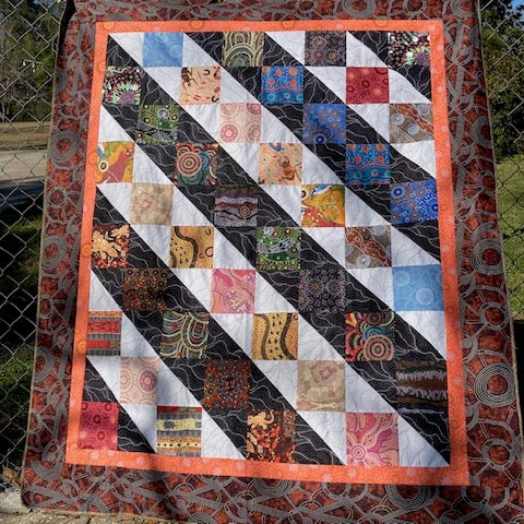Carefree Quilt kit made from Australian Aboriginal fabrics