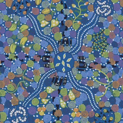 Corroboree Blue - Designed by Donna McNamara