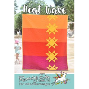 Heat Wave Quilt Pattern - Designed by Running Doe Quilts for Villa Rosa Designs