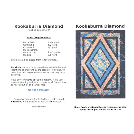 Kookaburra Diamond Quilt Pattern