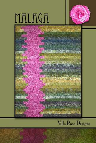 Malaga Quilt Pattern, designed by Pat Fryer for Villa Rosa Designs