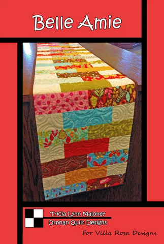 Belle Amie Table Runner Quilt Pattern, designed by Orphan Quilt Designs for Villa Rosa Designs