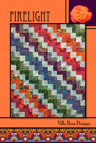 Firelight Quilt Pattern, designed by Pat Fryer for Villa Rosa Designs