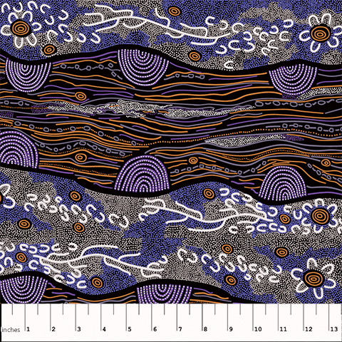 Sandy Creek Purple - Designed by Janet Long Nakamarra
